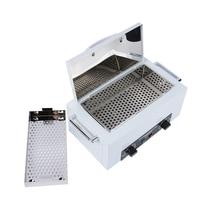 300W High Temperature Manicure Sterilizer EU Plug Nail Art Sterilizer with Hot Air Disinfection Cabinet Nail Art Equipment HWC