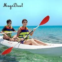 MagiDeal Detachable Asymmetrical Aluminum Kayak Paddle Float Afloat Oar Red for Kayaking Canoeing Rafting Paddles Water Sports