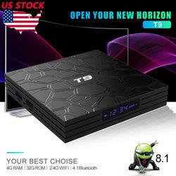 Najnowszy T9 z systemem Android 8.1 Quad-core 4 + 32 GB TV Box 2.4G/5G WIFI Bluetooth 4 K odtwarzacz Hot TV odbiorniki Set-Top Box