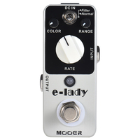 MOOER Guitar Pedal E Lady Analog Flanger Guitar Effect Pedal 2 Modes True Bypass Full Metal Shell Guitar Parts and Accessories