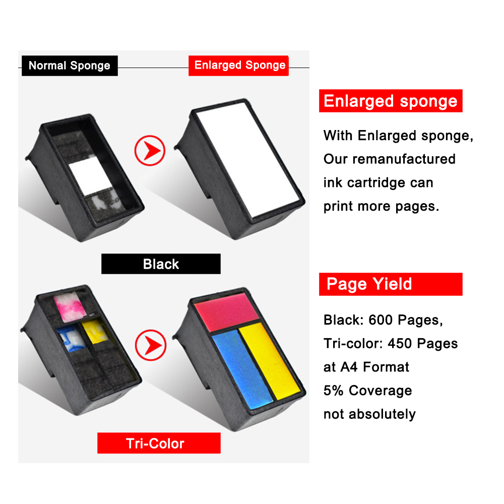 Image 4 - Veteran PG445 CL446 replacement for Canon ink cartridge PG 445 CL 446  for Pixma MG2540 MX494 MG2440 MG2940 MG2942 MX492 printer-in Ink Cartridges from Computer & Office