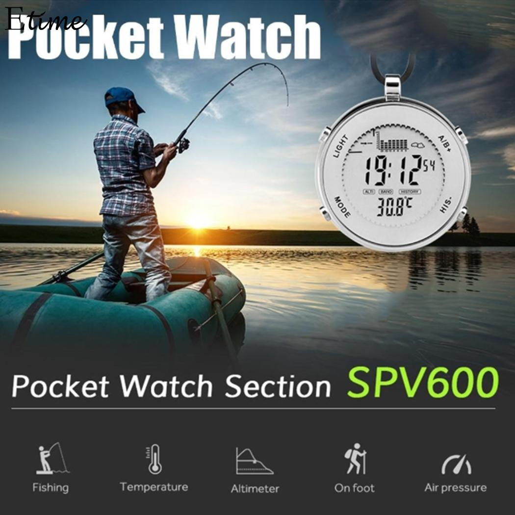 FANALA montre de poche en acier inoxydable boussole en acier verre montre de poche Jack Skellington PVC extérieur étanche numérique en plein air hommes montre