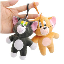 Tom And Jerry Plush Toys Keychain Small Pendant Dolls Wedding Party Gift Kids Fans Collection Kawaii Stuffed Pendant Doll New(China)
