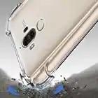 Siliconen Case Voor Huawei Mate 20 Pro P20 lite Nova 3 Honor 9 back cover TPU bumper Hoek Transparant Clear case bulk 100 stks/partij - 4