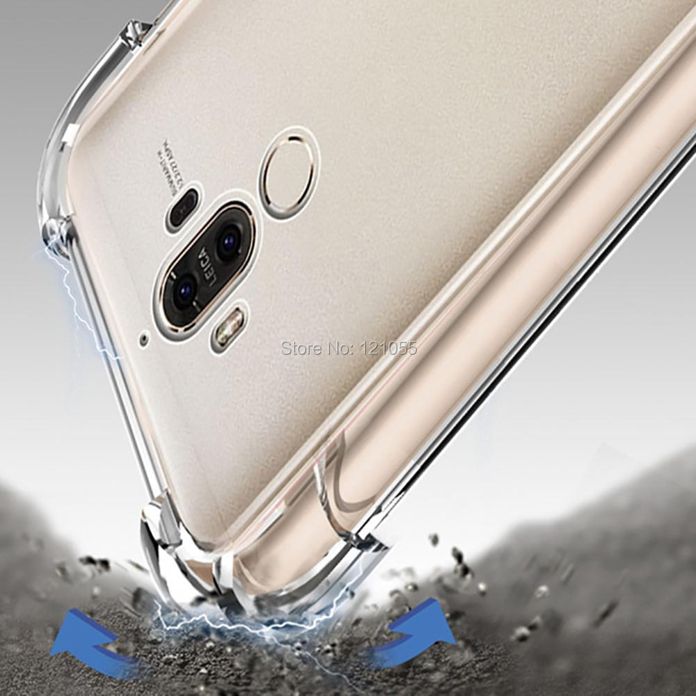 Silikon Fall Für Huawei Mate 20 Pro P20 lite Nova 3 Ehre 9 zurück abdeckung TPU stoßstange Ecke Transparent Klar fall groß 100 pcs/lot - 4
