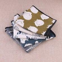 Качественные карманные полотенца льняные напечатанные мультфильм Хип мужские вечерние повседневные белые хлопковый носовой платок Para trage Hombres носовой платок с цветочным узором
