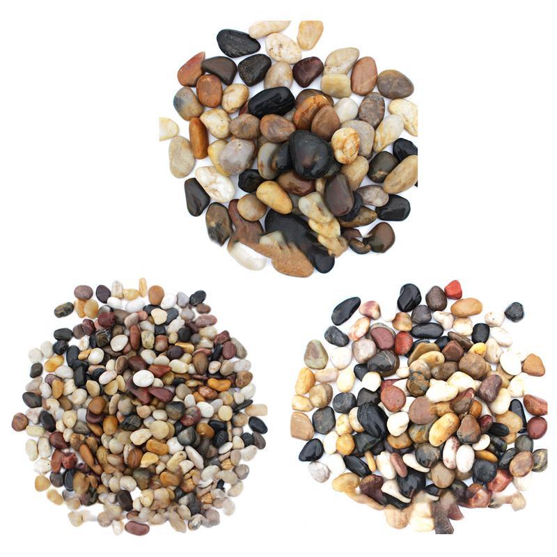 River Rocks Outdoor Decorative Stones Pebbles Large Cobblestone Colorful Goose Warm Paving Garden Rain Stone 1-3cm/2-4cm/3-6cm