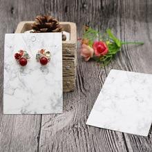 цена Jewelry Packing Display Card Marble Earrings, Hair Clips, Necklace Card Accessories Packing Jewelry онлайн в 2017 году