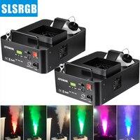 SLSLITE (2 шт.) 1500 Вт светодиодный Fogger дымовая машина светодиодный дым машина для сцены дымка машина