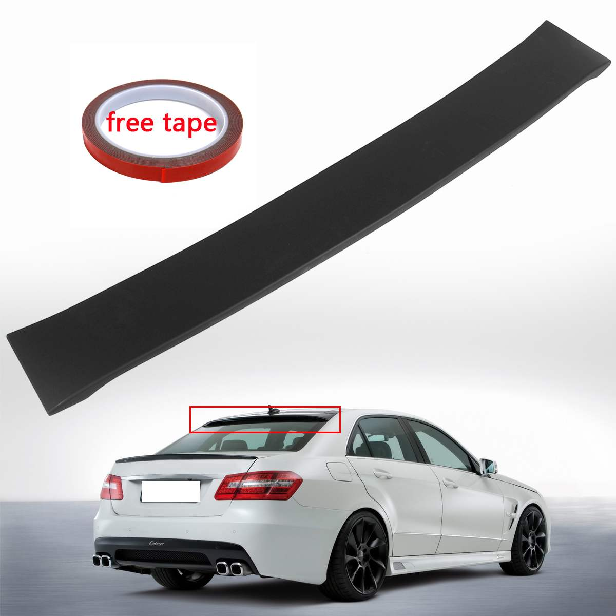 High quality ABS Fit For Mercedes E Class W212 Sedan Black Roof Window Lip Spoiler Wing