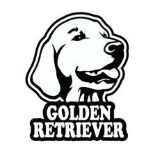10.5cm*13cm Golden Retriever Dog Motorcycle Funny Car Window Bumper Novelty JDM Drift Vinyl Decal Sticker iron cross novelty german car van window bumper vinyl sticker decal
