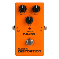 NUX DS 3 Distortion Pedal Analog Guitar Tube distortion effects pedal Crunch distortion Brown Sound
