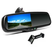 4.3 Inch Rearview Mirror Car Display Eye Sight Protetion Car Rear View Mirror Monitor With Bracket Mount Fast Delivery Black