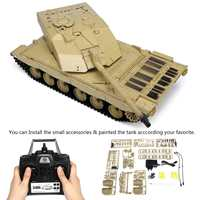 Heng Long 3908 1 1/16 2.4G Smoking British Challenger 2II RC Car Battle Tank Plastic Model Toys Outdoor Toys for Kids 2019 New