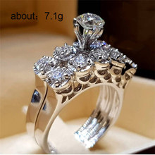 цена Silver 925 jewels rose gold rings Gold ring stainless steel jewelry  Women's round diamond inlay ringen men jewelry B2609 онлайн в 2017 году