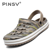 Camouflage Clogs Men Beach Sandals Slip On Mens Summer Shoes Outdoor Breathable sandali uomo 2019 PINSV