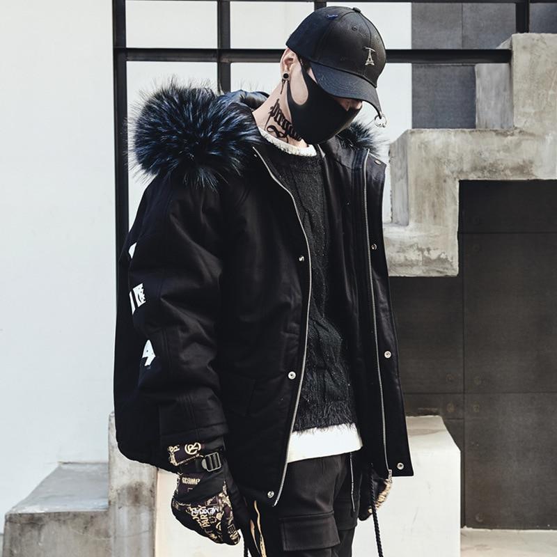 Fourrure Mode Homme De Surdimensionné Manteaux Taille Chaud Épais Bomber  Manteau Usa Black Hommes Veste D hiver Noir BqFxHAw7 14cb6c95feb