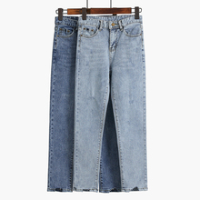 Spring Summer Straight Jeans Woman Pantalon Femme Denim Pants Womens Washed High Waist Ankle-Length Pants недорго, оригинальная цена