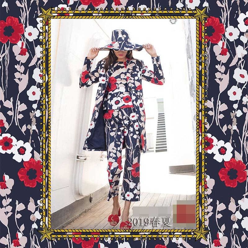 Verantwortlich 2019 Frühling Und Sommer Mode Woche Neue Polyester Gedruckt Stoff 145 Cm Breite Kleid Hemd Eltern-kind Kleidung Tuch Pre-verkauf Klar Und GroßArtig In Der Art
