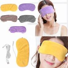Masque pour les yeux à la lavande, chauffant à la vapeur, Patch anti-cernes, masseur oculaire, soulagement de la Fatigue, sommeil, voyage
