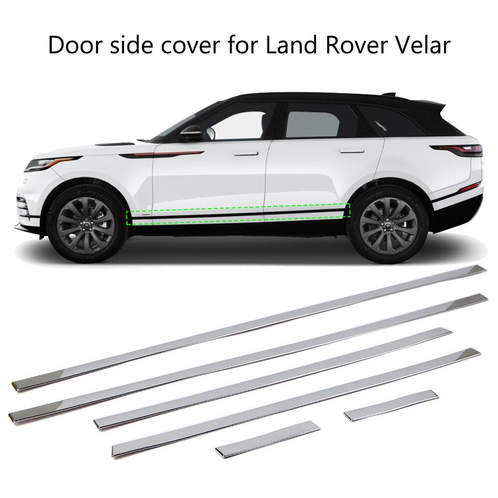 For Land Rover Range Rover Velar 2017 2018 Door Side Line Cover Molding Chrome Trim 6Pcs Body Kits     - title=