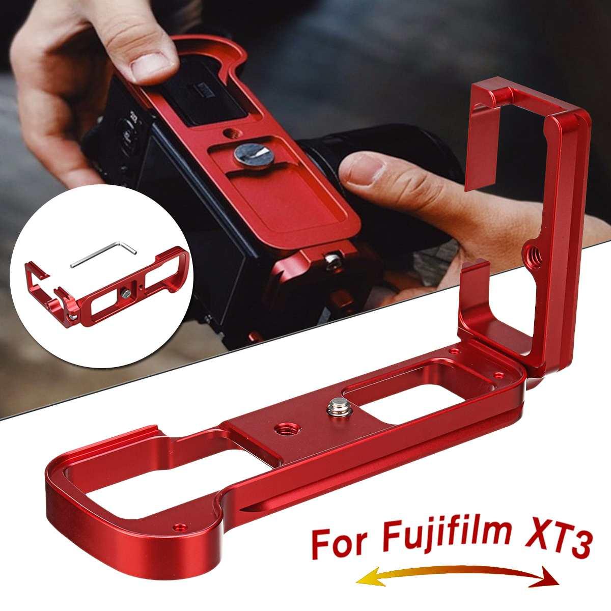 Support VerticaL en aluminium rouge à dégagement rapide L pour Fuji XT3 pour Fujifilm X pour T3 Arca Swiss