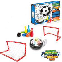 Free Shipping Kids Hover Soccer Ball Sport Toys Set With 2 Goals Child