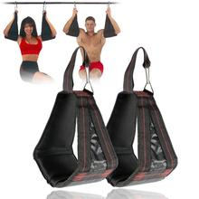 AB Sling Straps Abdominal Hanging Belt Home Fitness Hanging Belt Muscle Training Support Belt Chin Up Sit Up Pullup Equipment