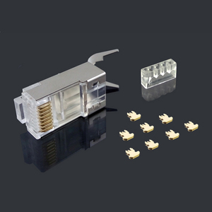 Image 3 - xintylink cat7 rj45 connector rj 45 ethernet cable plug cat6a 8P8C stp shielded cat 7 network conector jack modular 10/50/100pcs