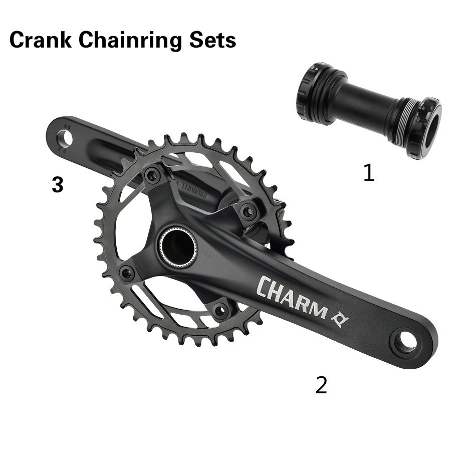 9 10 11speed Crankset Chainwheel 170mm 36T BB Bottom Bracket Crank Hollow Tooth Plate MTB Bicycle