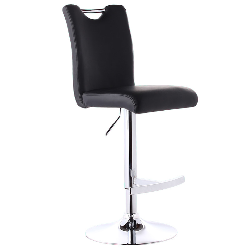 Provided Lifting Swivel Counter Mordon Bar Chair 84-98cm Height Adjustable Iron Rotating High Bar Stool Chair Pu Leather Soft Backrest High Quality Bar Chairs