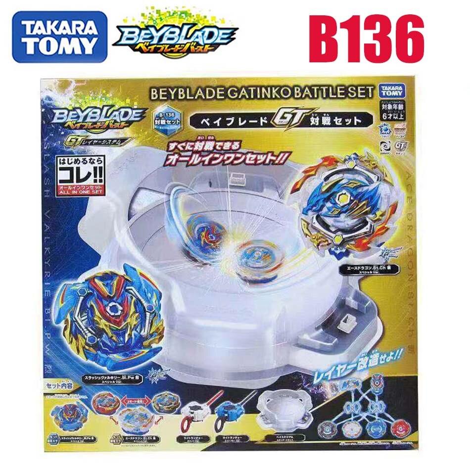 Takara Tomy beyblade explosión b136 batalla disco conjunto para la batalla Gyro lanzador bayblade B136