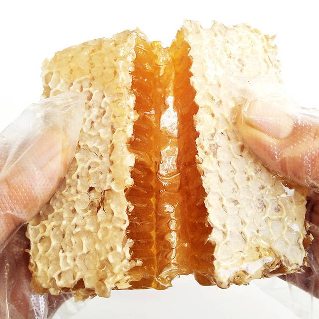 Pure Honeycomb For Sale Raw Beeswax Honey Comb Hive Natural Skin Hydration 500g