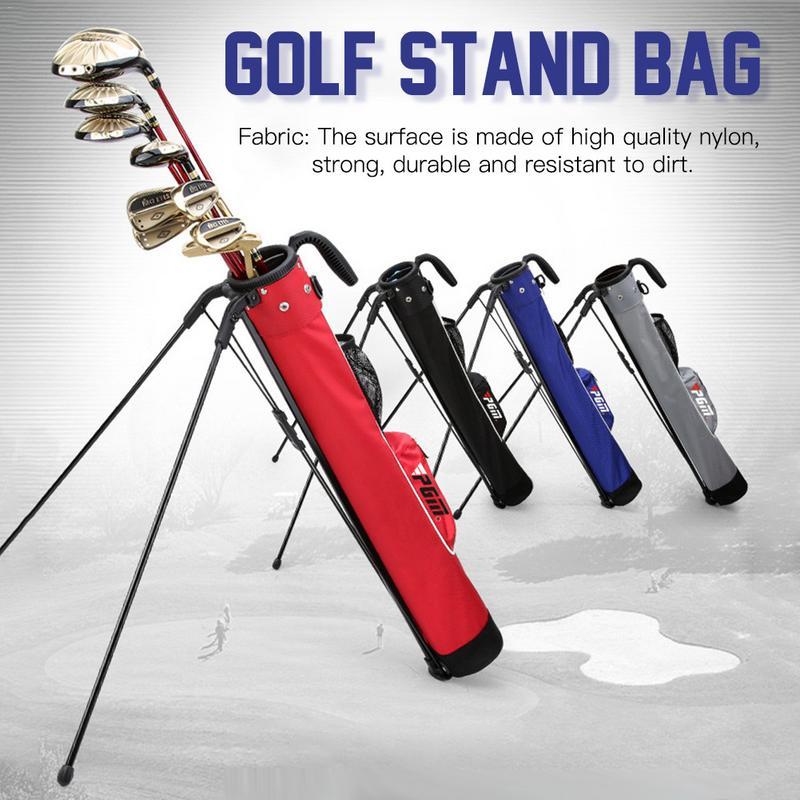 Golf Stand Rack Sac très léger Grande Capacité Noir Rouge Bleu De Golf Report Léger sac en nylon Avec Poche 2019 nouveauté