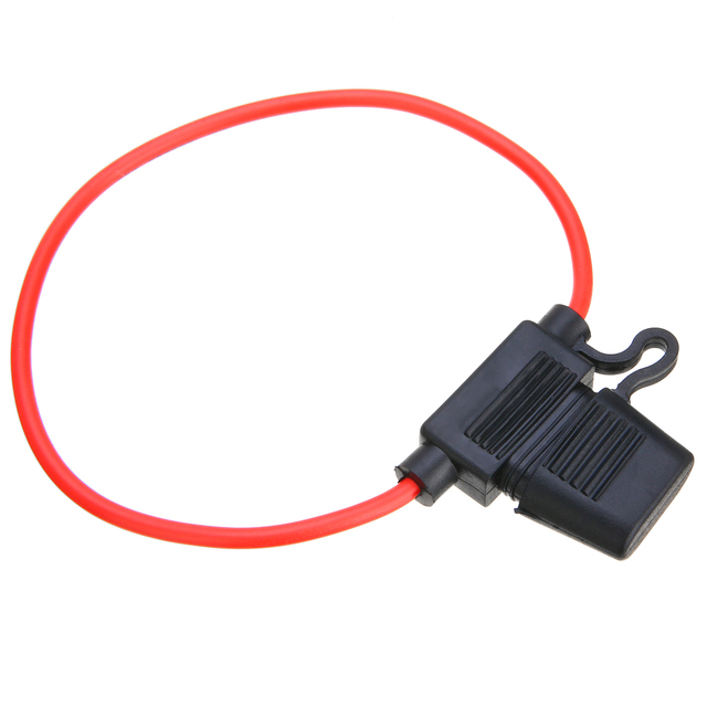 Waterproof Medium Car Fuse Holder With Cable 14AWG Wire In-line Automotive Blade Fuse Holder Fuseholder 20A