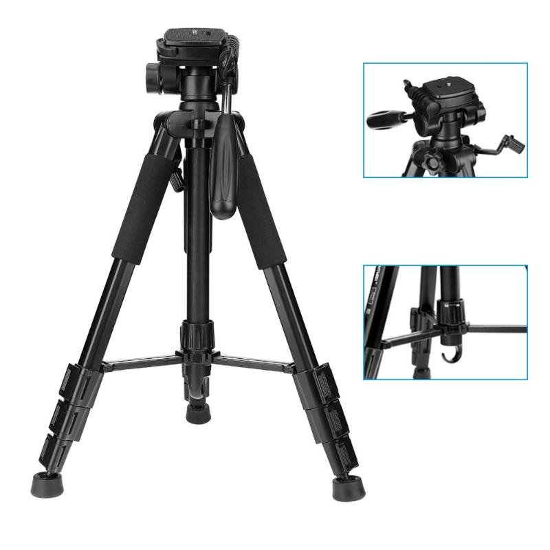 Q111 Travel Tripod with Carry Bag Professional Portable Aluminum Camera Tripod Quick Release Pan Head for