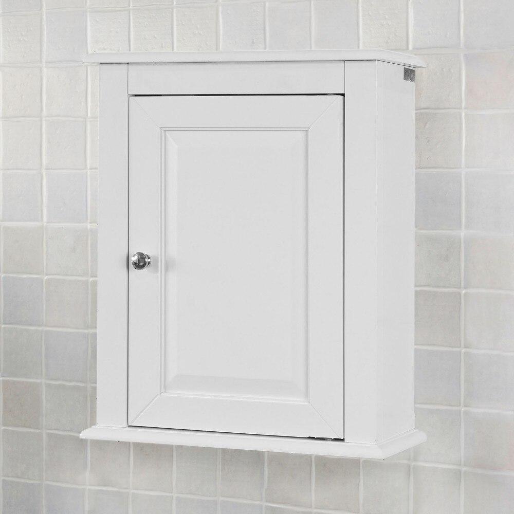 SoBuy FRG203-W, White Wooden Wall Mounted Single Door Bathroom Cabinet Storage Cubboard