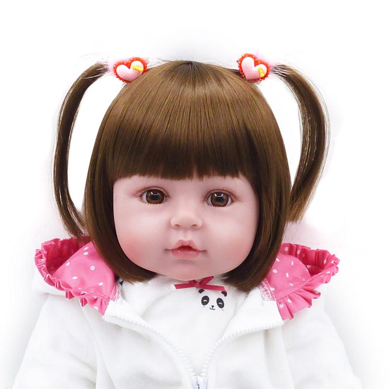 Brown Eyes Panda Clothes SD Doll Fashion Simulation Doll Reborn Doll Bedtime Educational Toys For Children Birthday Gift SetBrown Eyes Panda Clothes SD Doll Fashion Simulation Doll Reborn Doll Bedtime Educational Toys For Children Birthday Gift Set