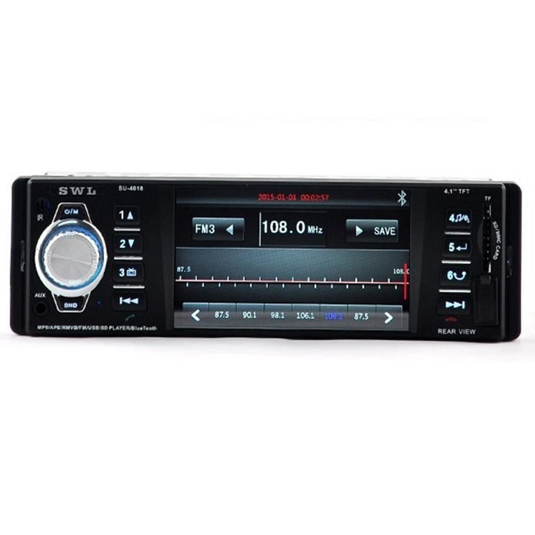 4 ''12 V voiture MP3 lecteur WMA OLED écran stéréo AUX Bluetooth appel Radio USB Auto FM transmetteur modulateur voiture Audio lecteur 4018B