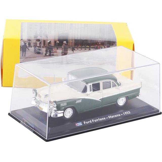 High Quality 1:43 Classic Cuban Taxi Alloy Model Toy Children Room Decoration Puzzle Collection Toy Gift