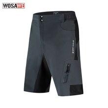 WOSAWE Mens MTB Motorcycle Shorts Loose-Fit Road Motorbike Racing Mountain Downhill Grey Light Weight Waterproof