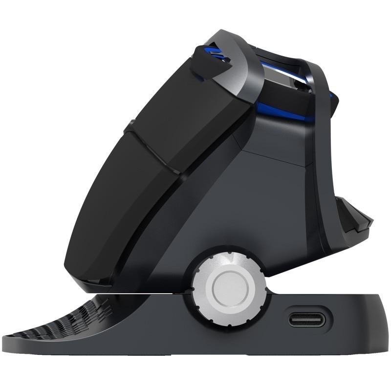 Delux M618X 2.4 Ghz sans fil + Bluetooth 3.0/4.0 souris multi-mode souris verticale ergonomique ordinateur Rechargeable Laser 6D Mause - 2