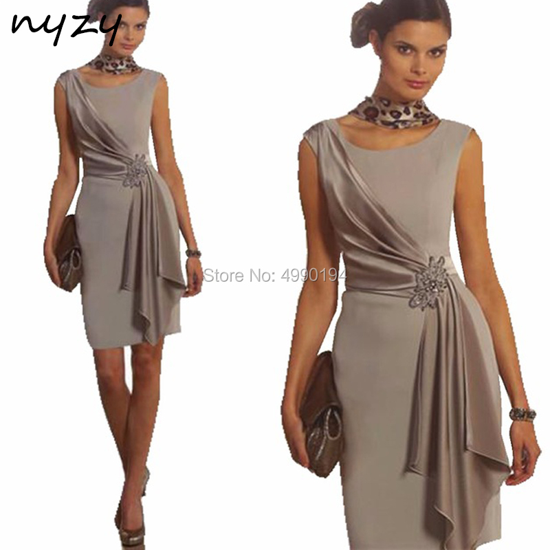 NYZY C41 Vestido Robe   Cocktail     Dresses   Short Mini Asymmetrical Skirt Satin   Dress   for Wedding Party Graduation 2019