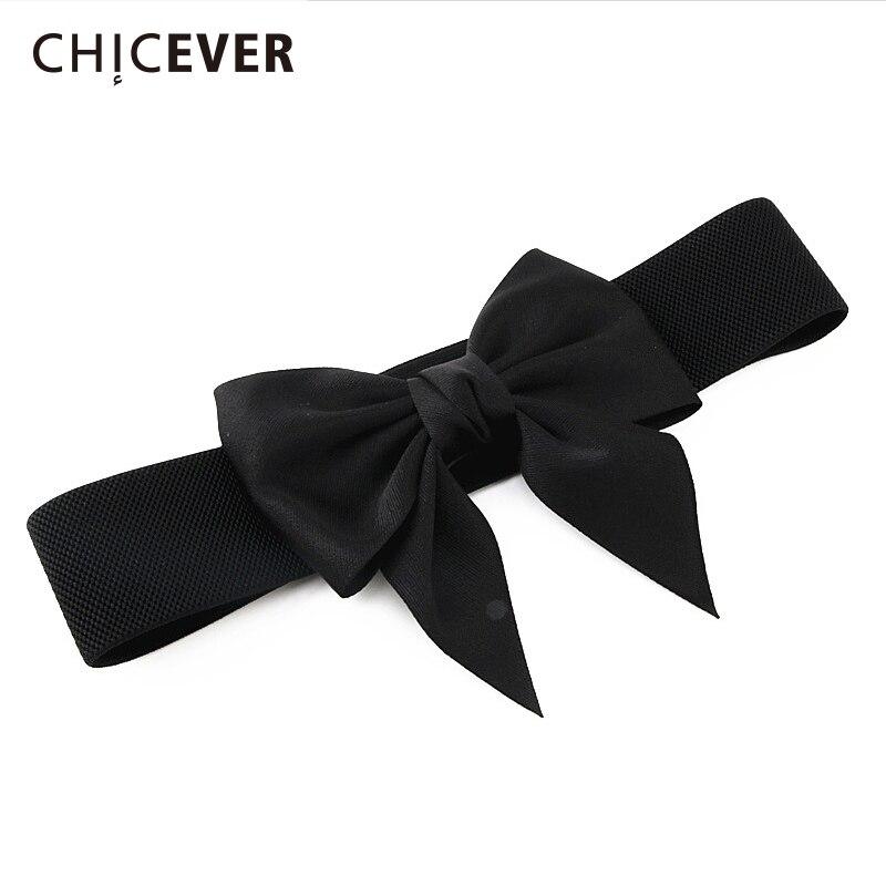 CHICEVER 2020 Spring Summer Bow Belt For Women Cummerbunds Spring Summer Accessories Women's Belts Korean Fashion New
