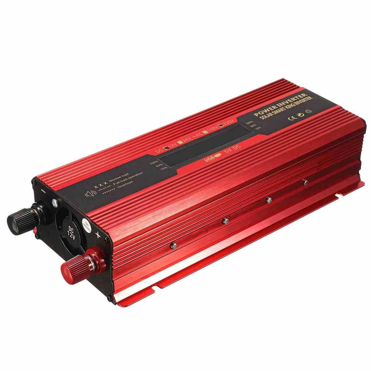 Автомобильный инвертор 12 В 220 в 6000 Вт P eak преобразователь напряжения Трансформатор 12 В/24 В 110 В/220 В инверсор Универсальный/США штекер