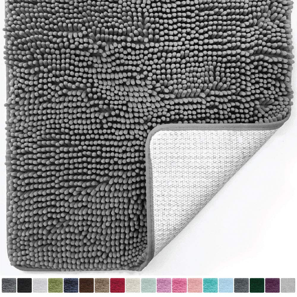 Ultra Soft Plush Fabric Covers Carpet Chenille Bath Rug Mat In Bedroom Machine Washable Rug Baths Toilet Lid Cover Mat Bedside