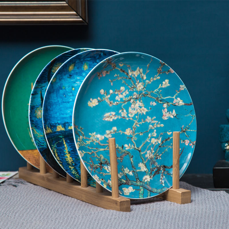 And Crafts Pendulum Plate Disc Ceramics Household Tableware Bone China Western-style Food Dish