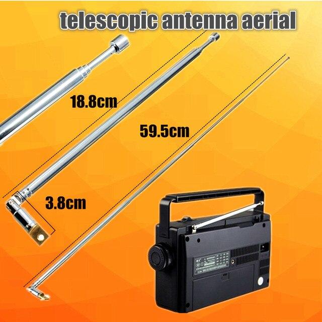 Nova Chegada Melhor Promoção Durável 310991702355 AM FM Rádio Antena Telescópica Substituição 63 cm Comprimento 4 Seções