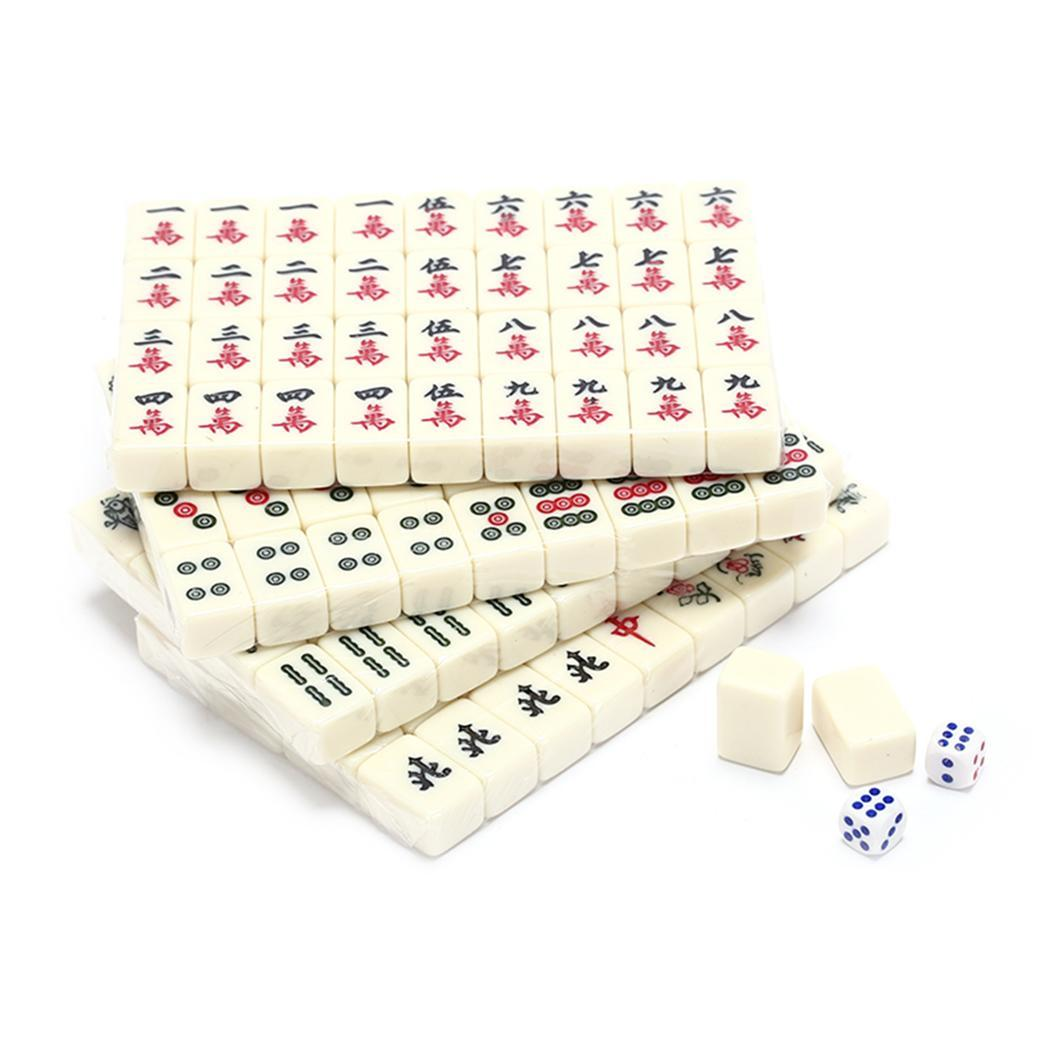 Multiplayer Entertainment Game Chinese Mahjong Set Portable Mahjong As picture