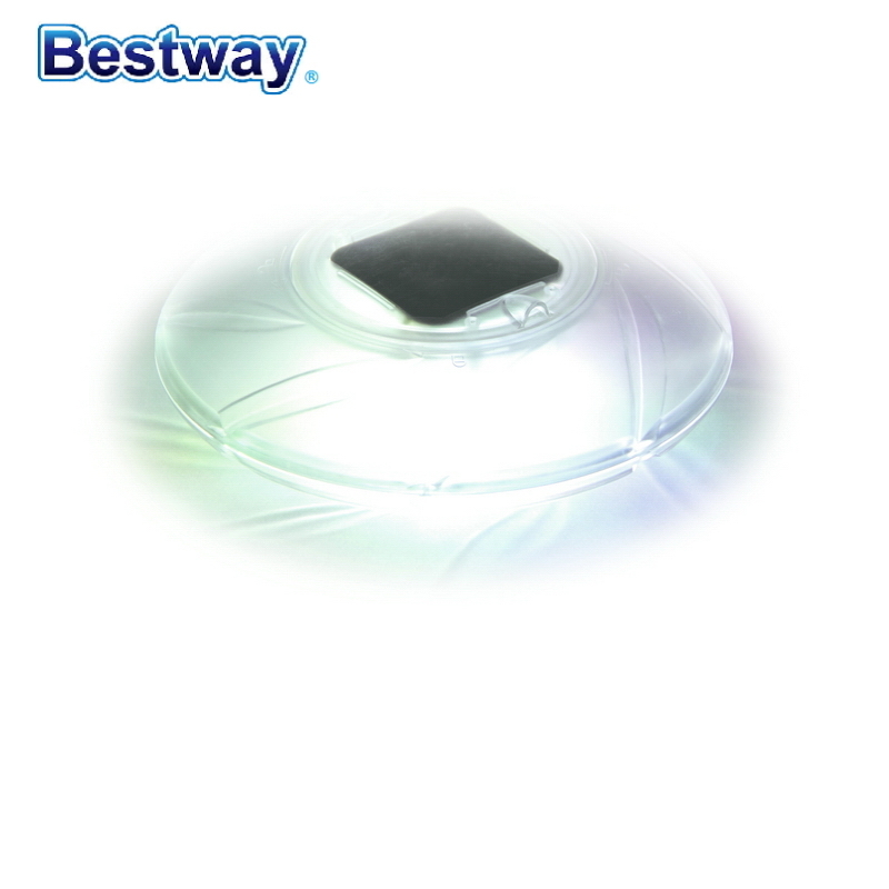58111 Bestway 4 Pieces Solar-Float Lamp Multi-Color  LED Alternating Light Self-Turn-On At Night With Extra-Long 8-Hour Runtime